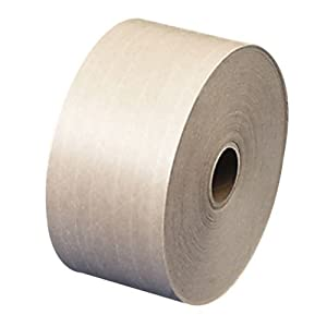 Quality Park Products Gummed Sealing Tape with Fiberglass, 3 x 375, Kraft, 8 Rolls of Tape (46083)
