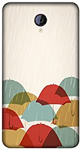 Timpax Light Weight Hard Back Case Cover Printed Design : Rain and umbrellas.Specifically Design For : Micromax A106 Unite 2