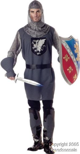 Men's Valiant Knight Halloween Costume (XL 44-46)