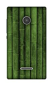 The Racoon Lean Green Bamboo hard plastic printed back case / cover for Microsoft Lumia 435