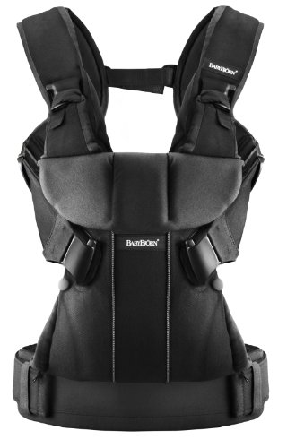 New BABYBJORN Baby Carrier One, Black, Cotton