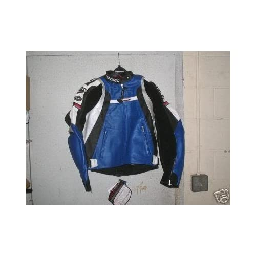 Teknic Violator Black Leather Motorcycle Jacket   44/54