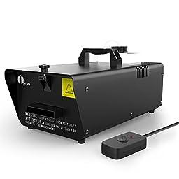 1byone Low Lying Fog Machine 400 Watt with Wired Remote Control Fogger