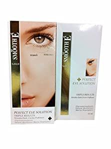 buy 2 Packs Of Smooth E Gold Perfect Eye Solution. Triple Results: Wrinkle - Dark Circles - Puffiness. (15 Ml/ Pack)