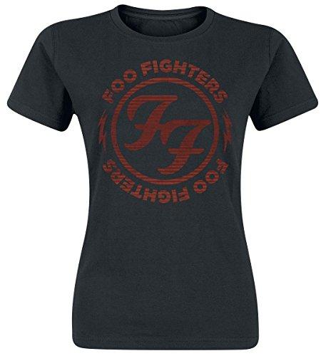 Foo Fighters Logo Red Circle Maglia donna nero L