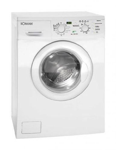 Bomann WA 5714 Waschmaschine FL / A++ / 174 kWh/Jahr / 1400 UpM / 6 kg / 9240 L/Jahr / 15 Programme und Zusatzoptionen / Elektronische Programmsteuerung / weiß
