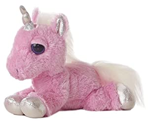 "Aurora World Dreamy Eyes Heavenly Pink Unicorn 10"" Plush"