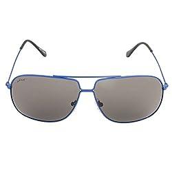 Walnut Grey Rectangular Frames Sunglass For Unisex