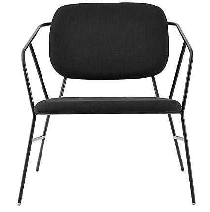 HOUSE DOCTOR - Fauteuil lounge noir design épuré métal House Doctor Klever
