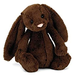 [Best price] Stuffed Animals & Plush - Bashful Chocolate Bunny Medium(12inches) by Jellycats - toys-games