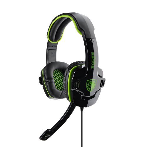 Victsing Professional 3.5Mm Games Gaming Headset Headphones For Pc Laptop Green