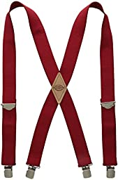 Dickies Men\'s 1-1/2 Solid Straight Clip Suspender,Red,One Size