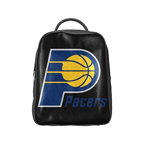 Navarro 2016 NBA Indiana Pacers IND Logo Unisex School High-grade PU Leather Backpack Bag Shoulder (Fort Wayne Indiana Shopping)