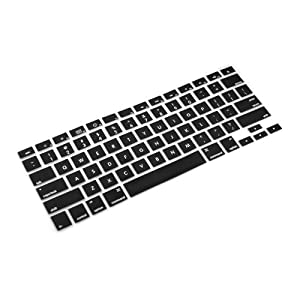niceEshop(TM) Keyboard Silicone Cover Skin for Apple Mac Macbook (Fit 13-15 Inches) ,Black