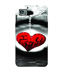 PrintVisa Romantic Love Hearts 3D Hard Polycarbonate Designer Back Case Cover for Lenovo K860