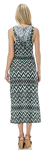 Classic Designs Juniors Aztec Print Hoodie Stretch Maxi Dress / Cover Up