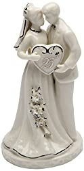 Cosmos Gifts 30716 Ceramic 25th Anniversary Couple Figurine, 4-3/4-Inch by Cosmos Gifts