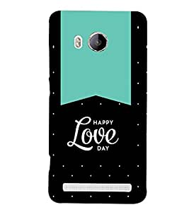 Happy Love Day 3D Hard Polycarbonate Designer Back Case Cover for Vivo Xshot