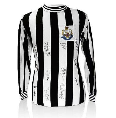 Newcastle Hand Signed Shirt - 1969 Fairs Cup Winners Autograph Jersey - Autographed Soccer Jerseys