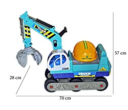 Babysid Collections Non-battery Ride-On Truck Crane with helmet