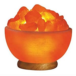 Indus Classic 100% Pure Himalayan Rock Crystal Fire Bowl Himalayan Salt Lamp