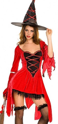 ToBeInStyle Women's Red Magic Witch Outfit