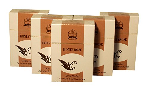 Honeyrose CHOCOLATE 5 Packs - Tobacco & Nicotine FREE Herbal Sticks, Pack of 20, FREE SHIPPING!