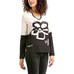 Desigual - Godon, Camicia da donna, nero (negro), Size 18 (Taglia produttore:XX-Large)