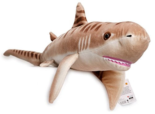 Tito the Tiger Shark | 55 Inch Big Stuffed Animal Plush | Prime 2 Day Guaranteed Shipping from California Available (Giant Plush Shark compare prices)