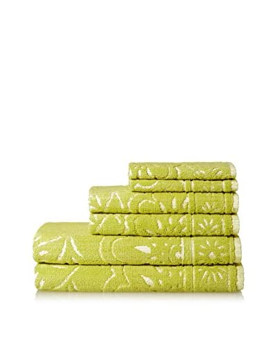 Espalma Whimsy Floral 6-Piece Towel Set, Palm