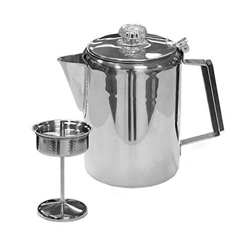 Stansport Stainless Steel Percolater 9-Cup Coffee Pot