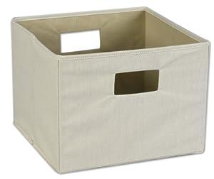 Household Essentials Storage Bin with Handles, Natural Canvas