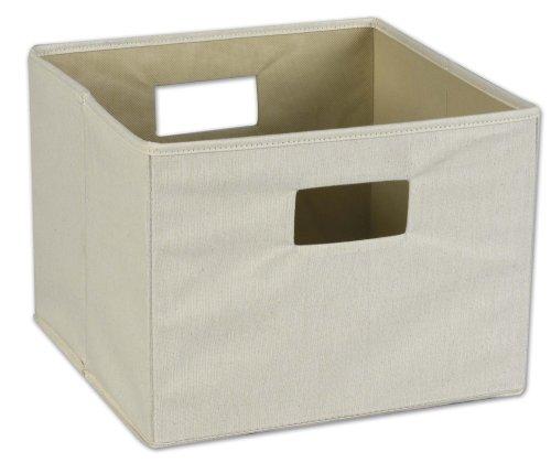 Canvas Storage Boxes For Wardrobes: Basket Storage Bin W Handle Collapsible Square Storage Box