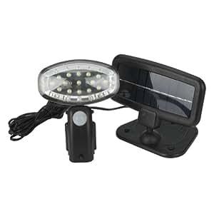 Fuloon - 15 LEDs lampe solaire de détecteur du movement avec piles rechargeables - pour jardin maison parc etc.