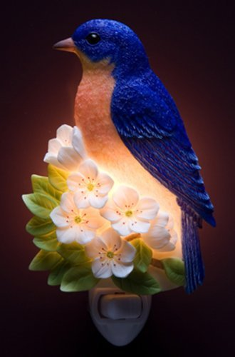 Ibis & Orchid Bluebird on Cherry Night Light #50044