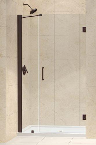Unidoor Frameless Hinged Shower Door Opening Size: 40-41