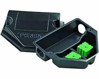 "JT Eaton 909 Mouse Sized Plastic Bait Station with Solid Lid, 5-1/2"" Length x 6-3/8"" Width x 2-3/4"" Height (Case of 50)"