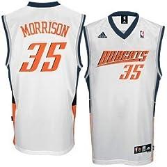 Buy Adam Morrison Charlotte Bobcats Jersey White Swingman by adidas