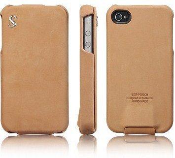 SPIGEN SGP アイフォン 4 / 4S ケース Vintage 【 BROWN FLAT 】 本革 フリップタイプ for iPhone 4 / 4S 【 SGP06754 】