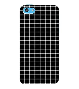 ColourCraft Squares Pattern Design Back Case Cover for APPLE IPHONE 5C