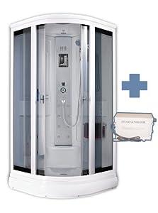 Box doccia idromassaggio con bagno turco 90x90 mambo casa e cucina - Bagno turco in casa prezzi ...