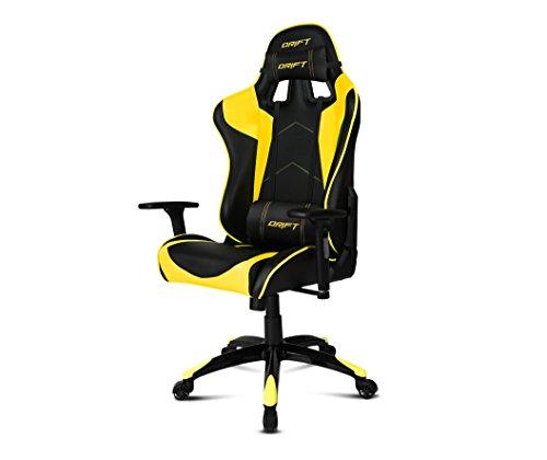 Drift-DR300-Sedia-per-Gaming-Finta-Pelle-NeroGiallo-48x615x129-cm