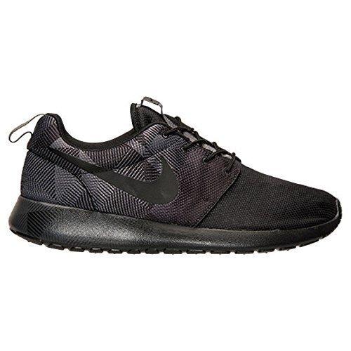 nike rosherun print mens running trainers 655206 sneaker shoes (uk 9 us 10 eu 44, black black dark grey 002)