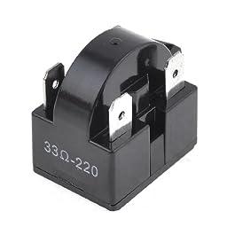 Plastic Housing 4 Pins PTC Starter Relay for Refrigerator 33 Ohm
