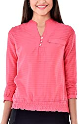 Colors Couture Pink Bloom Smocky Top