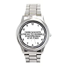 buy I Knew I Was Nuts The Day The Squirrels Sport Silver Stainless Steel Wrist Watch