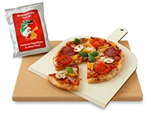 Vesuvo V38301 Kit Pierre à Pizza Cordiérite