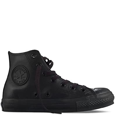 leather all black converse