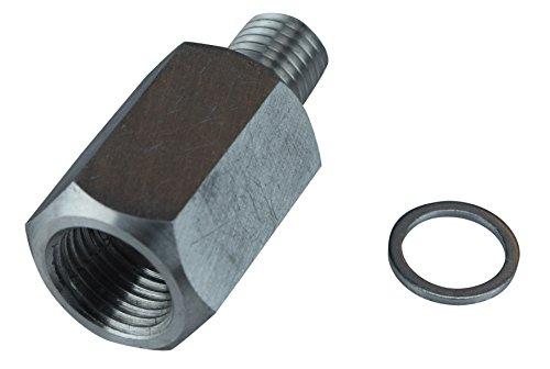 LS Engine Swap M12 1.5 Adapter to 3/8 NPT Coolant Temperature Sensor Water LS1 LSX LS3, 179 (Cylinder Head Temp Gauge compare prices)