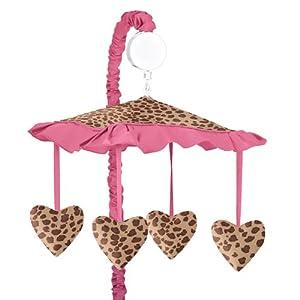 Amazon Com Cheetah Girl Pink And Brown Musical Crib
